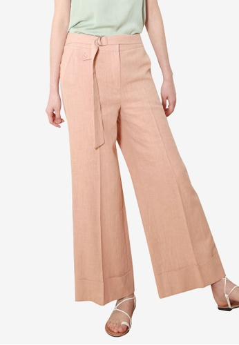 NAIN pink Linen Wide Pants 2E61CAA5C25C16GS_1