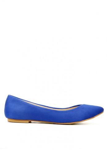 KissXXX blue Classic V-shape Royal Blue Pointed Flats KI688SH2VNDCHK_1