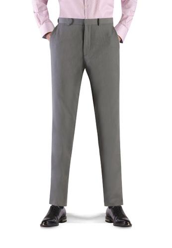 T.M. LEWIN grey T.M.Lewin Coolmax Single Trouser Grey 72590AAF9867FCGS_1