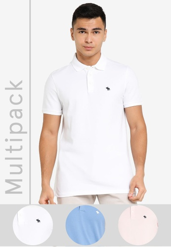 ABERCROMBIE & FITCH multi Multipack Core Polo Shirt 0C8F8AAD0B8FECGS_1