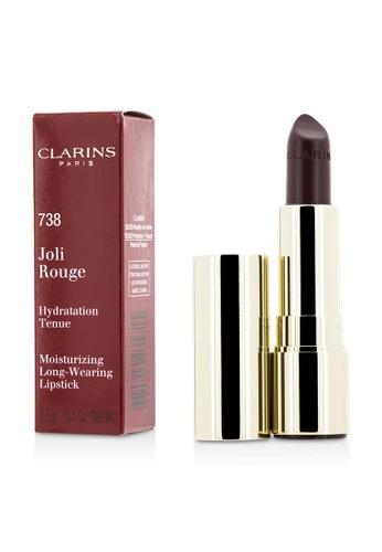 Clarins CLARINS - Joli Rouge (Long Wearing Moisturizing Lipstick) - # 738 Royal Plum 3.5g/0.1oz 8DC24BE829DE6BGS_1