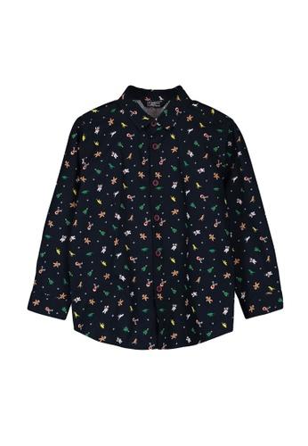 LC Waikiki navy Boy's Figured Cotton Shirt 530C3KA42AE84AGS_1