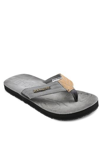 異材esprit 會員質拼接夾腳涼鞋, 鞋, 鞋