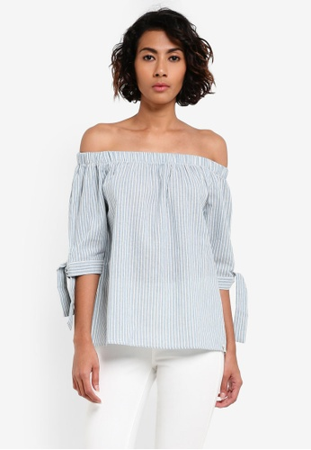REGATTA blue Chambray Blouse With Off Shoulder RE699AA0RUQ0MY_1