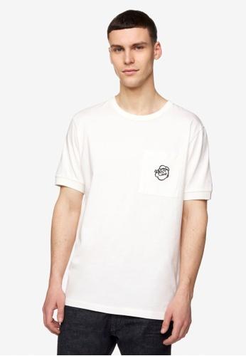 United Colors of Benetton white Printed T-shirt 6216BAA33EBF3EGS_1