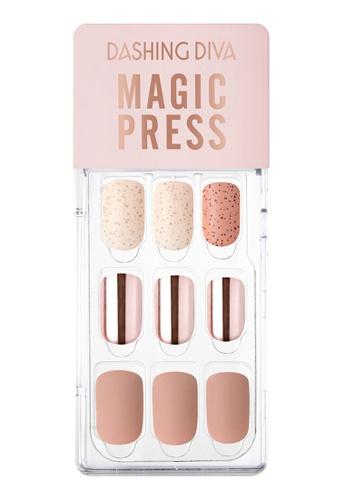 Dashing Diva pink Dashing Diva 1 SEC. MAGIC PRESS Manicure Pink Metal Sand / Press on Nails /Nail Tips 48690BEA36803FGS_1