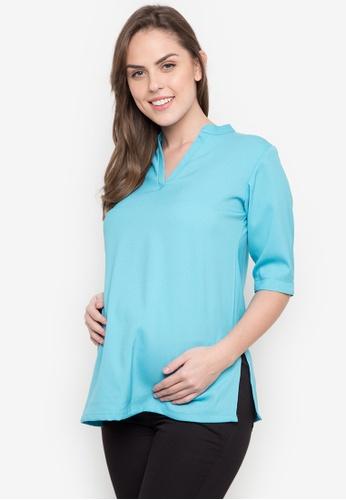 BUNTIS blue Alison Maternity Blouse BU698AA0K33IPH_1