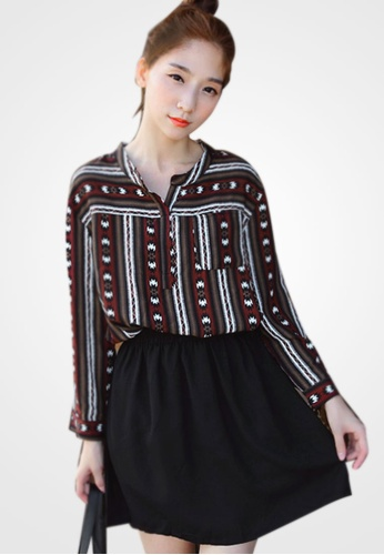 Sesura red Cheery Totem Best Dress B23DDAA57D5BFAGS_1