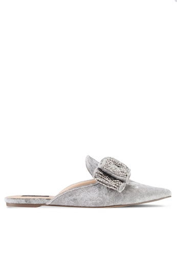 ZALORA grey Bejewelled Bow Sliders FD4BBSHC0E5F33GS_1