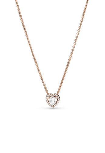 PANDORA gold Pandora Sparkling Heart Collier Necklace 43A94AC8B47F69GS_1