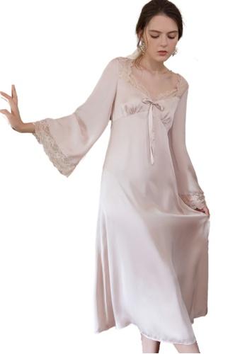 THE LOUNGE EDIT pink Marogi Sleepwear Dress CB457AA339D3FCGS_1