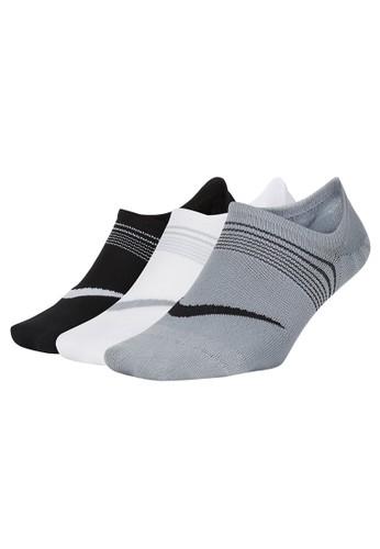 Nike multi Women's Everyday Plus Lightweight Training Footie Socks (3 Pairs) 05DD9ACEC38E49GS_1