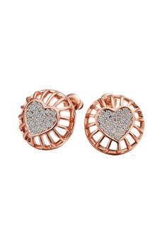 Sarah Rose Gold Heart Earrings