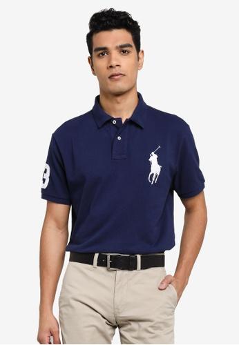 polo ralph lauren navy Slim Fit Polo Shirt 889B5AAEB79425GS_1