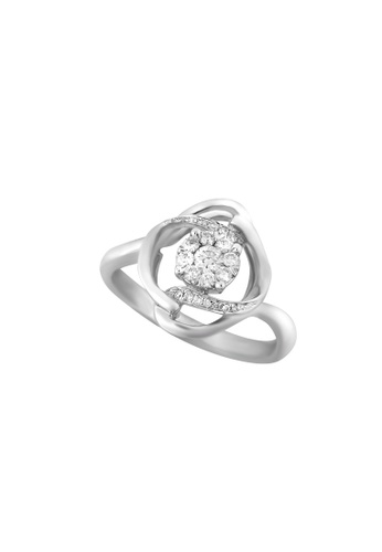 TOMEI white TOMEI Blossoming with Sparkling Bravura Ring, Diamond White Gold 375 (STR4341) 9B75CAC379D49DGS_1