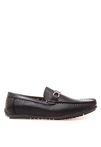 Wade black Smart Casual Loafers WA436SH80JXZPH_1