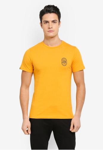 JAXON yellow Desert Nomad Logo Tee 204EAAA971298FGS_1