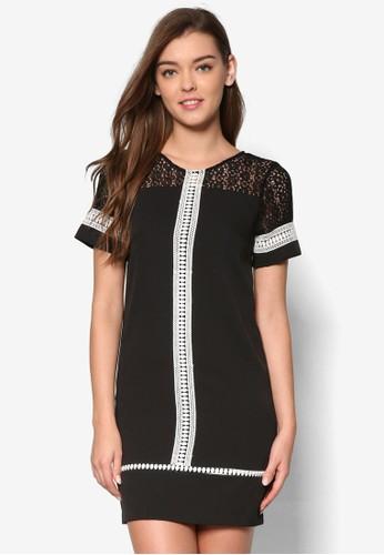 蕾絲拼接短袖洋裝, 服飾esprit 台北, 洋裝