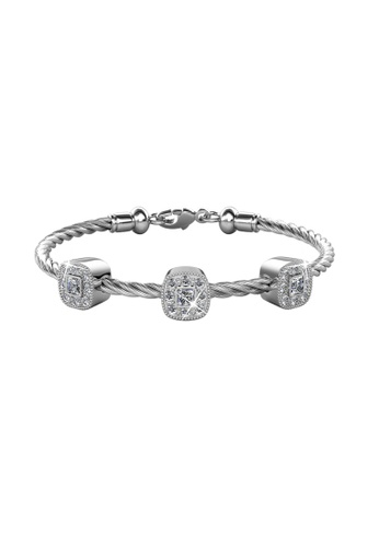 Her Jewellery silver Her Jewellery Cushy Bangle (White Gold) with Premium Grade Crystals from Austria EC369ACF8122E5GS_1