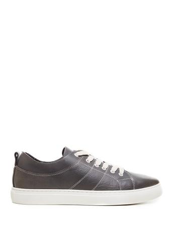 Minarno grey Minarno Grey Embroidered Leather Sneakers 9752 E3E12SHE1FD8F3GS_1