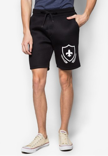 ChangMin 圖案束口休閒短褲, 服飾esprit台灣outlet, 短褲