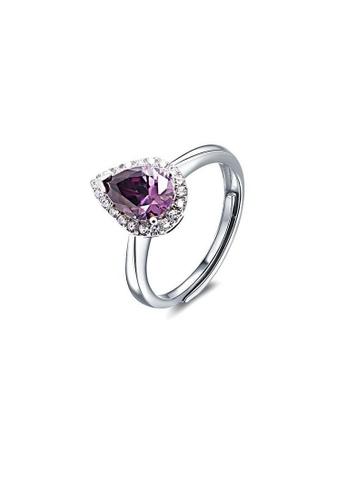 ADORA purple Silver Zircon Ring AD365AC04SMTHK_1
