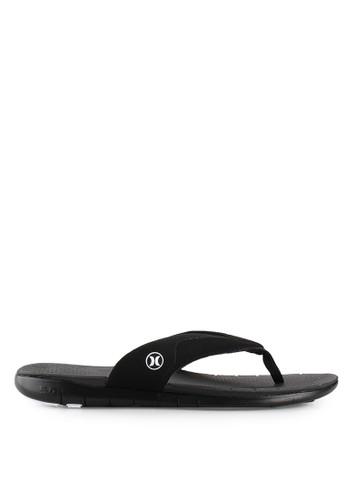 hurley black Phantom Free Sandal HU329SH26WAZID_1