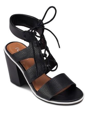 Jamieson 繫帶高跟涼鞋,zalora 衣服尺寸 女鞋, 鞋