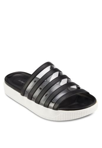 Vinyl 透明皮革寬帶拖鞋, 女zalora taiwan 時尚購物網鞋, 涼鞋