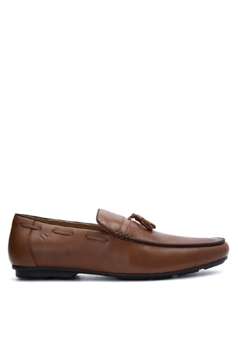 Sledgers brown Josh Tasseled Loafer Formal Shoes SL142SH0JWJWPH_1