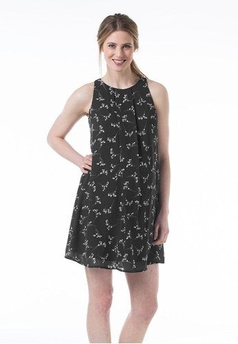 Bove by Spring Maternity black Woven Sleeveless Clarabelle Dress Sprigs Black A8FA9AA01BA007GS_1