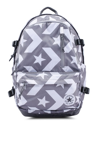 Converse grey Converse All Star Straight Edge Backpack 64C2DACFF5F263GS_1