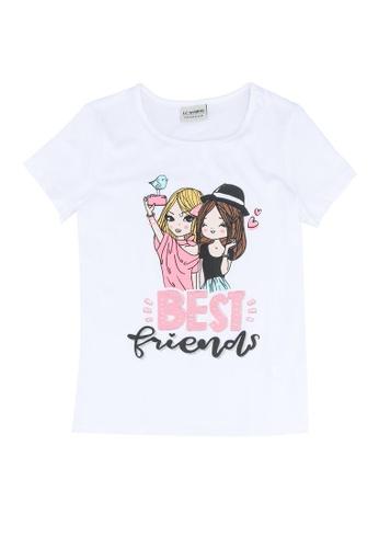 LC Waikiki white and purple Girl's Printed Cotton T-Shirt 778B4KA18A3600GS_1