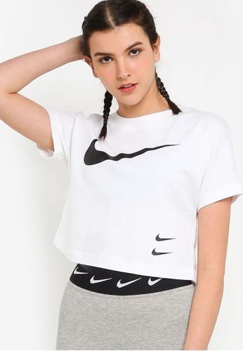 Nike white As W Nsw Swsh Top Ss C9328AA753E15AGS_1