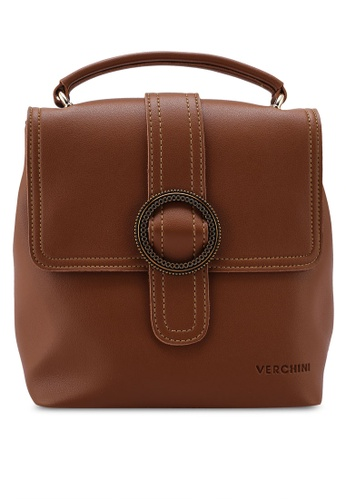 Verchini brown Verchini Top Handle Backpack 06BDAAC6D5A3F7GS_1