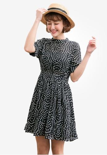Tokichoi black Graphic Print Dress 35BF2AAA19511AGS_1