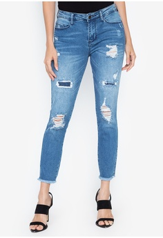 bdbd082b60 Guess  blue Rip And Repair Sexy Curve Jeans 4F8E7AA29610FAGS 1
