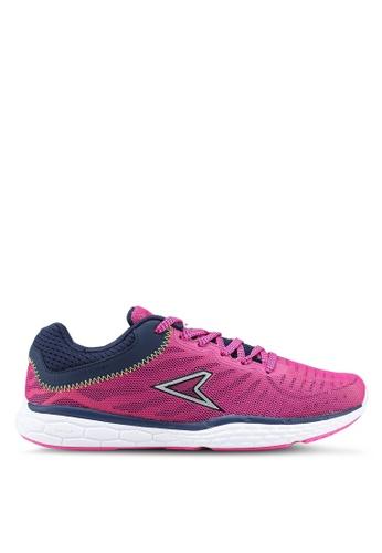 Power 白色 and 粉紅色 and 海軍藍色 Power Womens 慢跑鞋 384D5SH46D0E5CGS_1