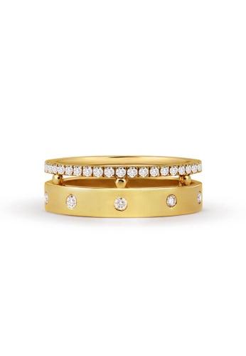 Aquae Jewels yellow Ring Rich & Bold Diamond Band – 18K Gold - Yellow Gold 463BAAC47D70E6GS_1