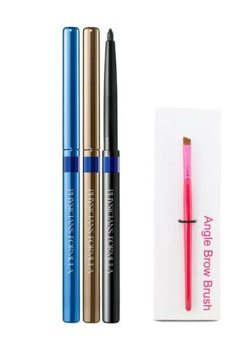 Physicians Formula Eyeliner: [Physicians Formula Official] Shimmer Strips Custom Eye Enhancing Eyeliner Trio - Blue  (FREE x 1 Angle Brow Brush) PH385BE99KAAMY_1