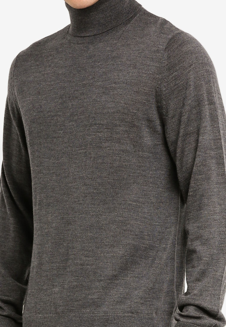 Sweater Dark Heather Merino Turtleneck GAP Charcoal Uqzzx5