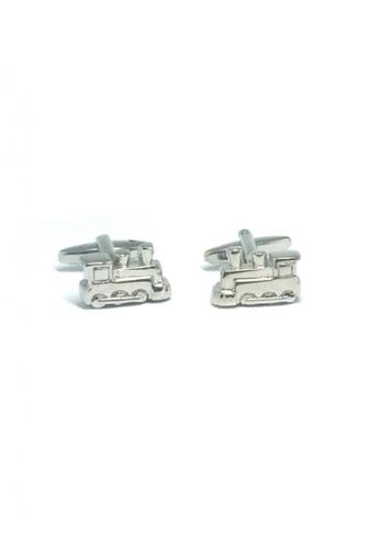 Splice Cufflinks silver Silver Train Cufflinks   SP744AC37DUGSG_1