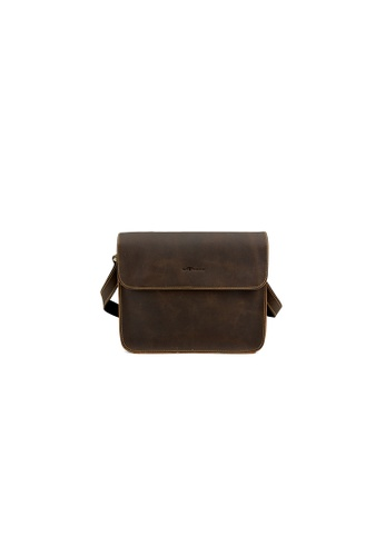 EXTREME brown Extreme Leather Messenger Bag F0EB1ACBE53B81GS_1