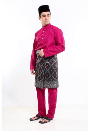 Amar Amran pink Baju Melayu Moden 53308AA05D0FDAGS_1