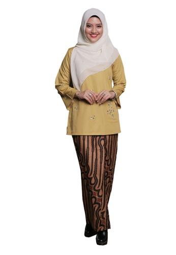 Kurung Kedah Mengusik Jiwa 01 from Hijrah Couture in Yellow