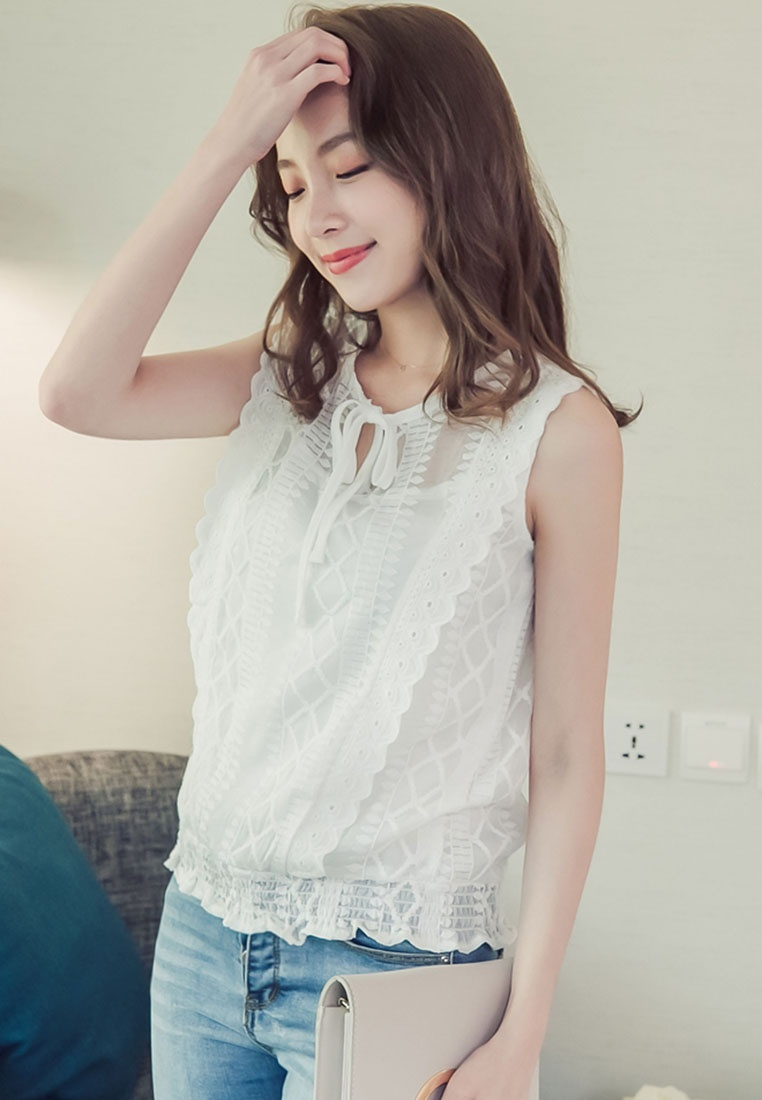 Eyescream White Lace Eyescream Top Lace UF51xZqwz