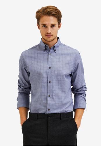 Selected Homme grey Slim Formal Shirt C80CCAA3DAAB8EGS_1