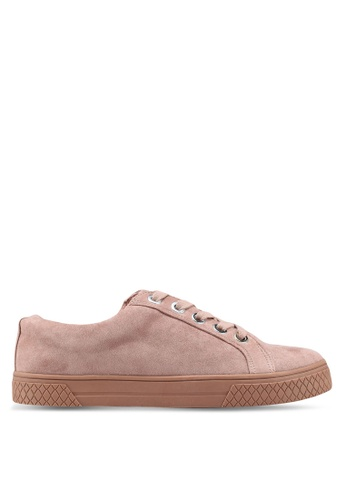 TOPSHOP pink City Lace Up Trainers 1FFF2SH61DD6B2GS_1