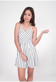 Claire Vertical Stripes Romper