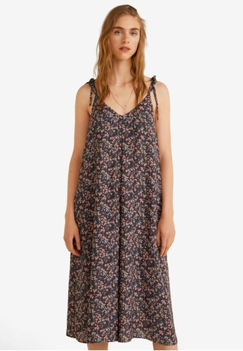 MANGO black Floral Print Jumpsuit C430CAAB83880AGS_1
